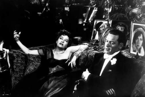 gloria swanson & william holden 1950 - sunset boulevard. from jane's film noir series.